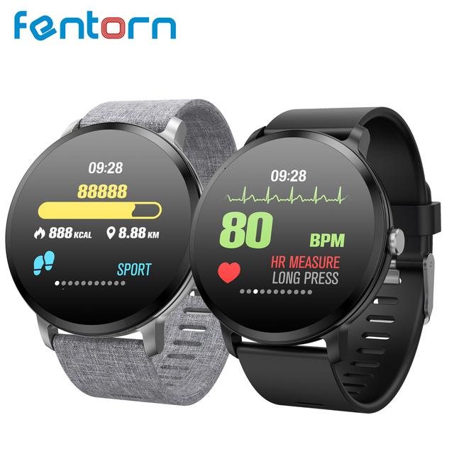 Fentorn V11 Smart watch IP67 waterproof Tempered glass Activity Fitness tracker Heart rate Blood Pressure Men women smartwatch