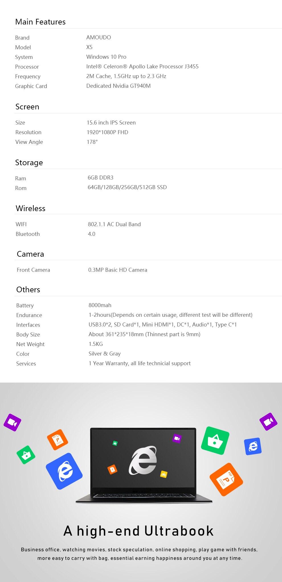 J3455-AMOUDO-6GB-NVIDIA 940