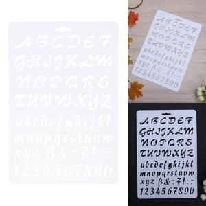 Трафареты с буквенным алфавитом и цифрами для скрапбукинга на стену DIY шаблон для фотоальбома украшения пластиковых карт для похора