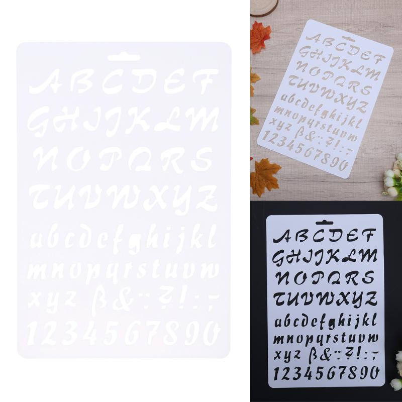 detail feedback questions about letter alphabet number layering stencils for diy wall scrapbooking painting template photoalbum decoration plastic pochoir