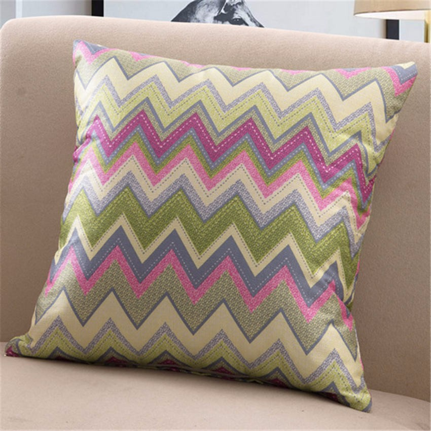 New year Christmas Health Quietly pink brown wave Angle Comfortable environment Pillow Case for baby Children gift bedroom