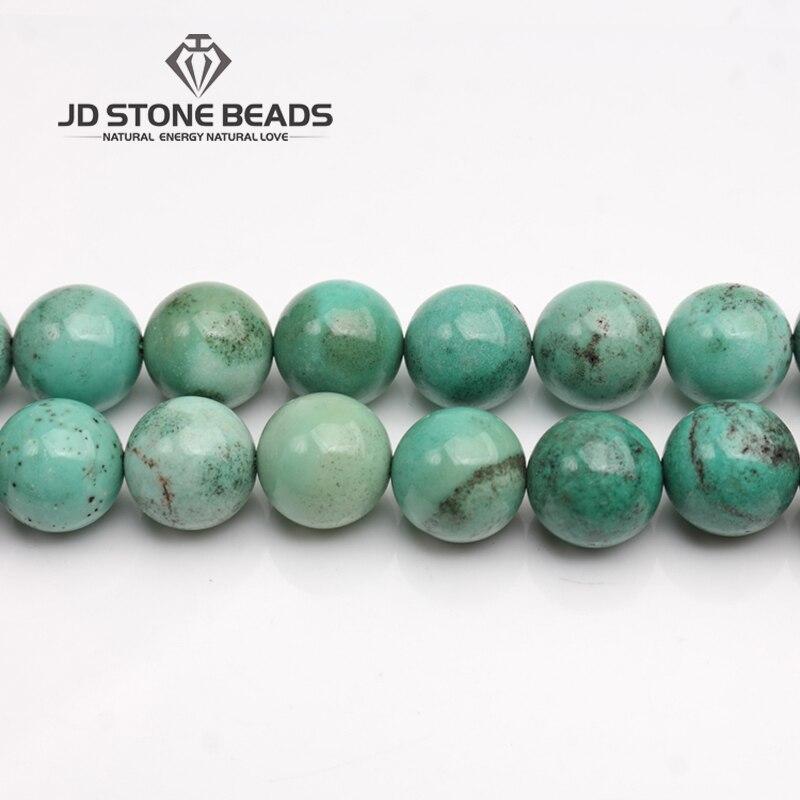 JD Pierre Perles Livraison Gratuite Vert Points Agate Perles En Vrac Pierre GEMME Perles DIY Accessoire Fait Main Fine Bijoux