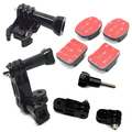 F05657-B Three-Way Pivot Arm + Buckle Tripod Mount + Flat & Curved 3M Adhesive Stickys for Gopro Hero 2/3/3 Plus