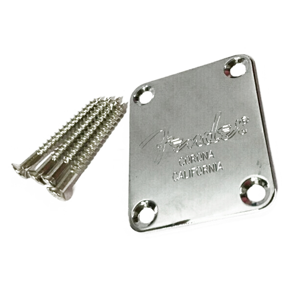 Music-S  Electric Guitar Neck Plate Neck Plate Fix Tele Telecaster Guitar Neck Joint Board - Including Screws