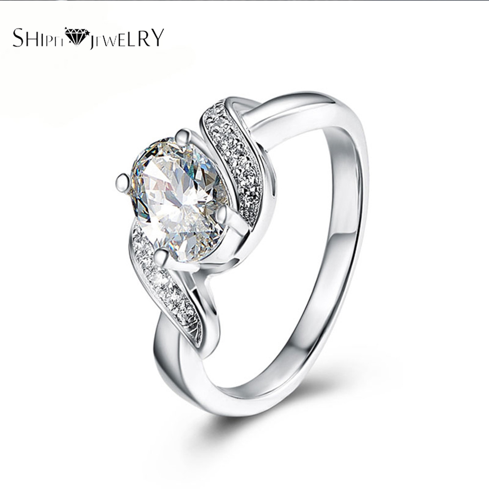 ShiPei 100% Natural Crystal Rings Unique Noble Women Rings for Anniversary Gifts