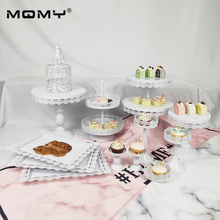 13 Pcs Wedding Tray Metal Wholesale Cup White Pink Vintage Small Birdcage And Cupcake Cake Stand