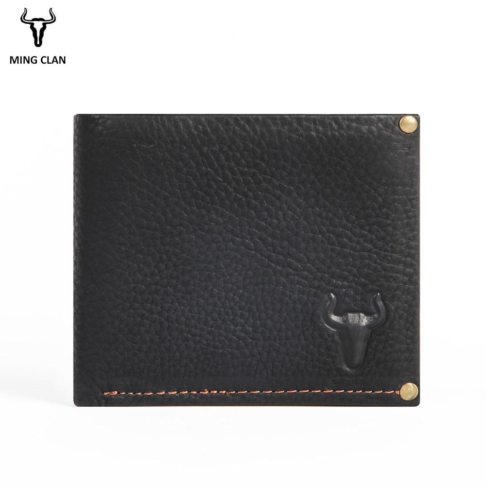 Mingclan Men Short Wallets Bifold Wallet Male Brand Leather Card Holder Money Cash Wallet Rfid Mini Purses Pockets Coin Purse