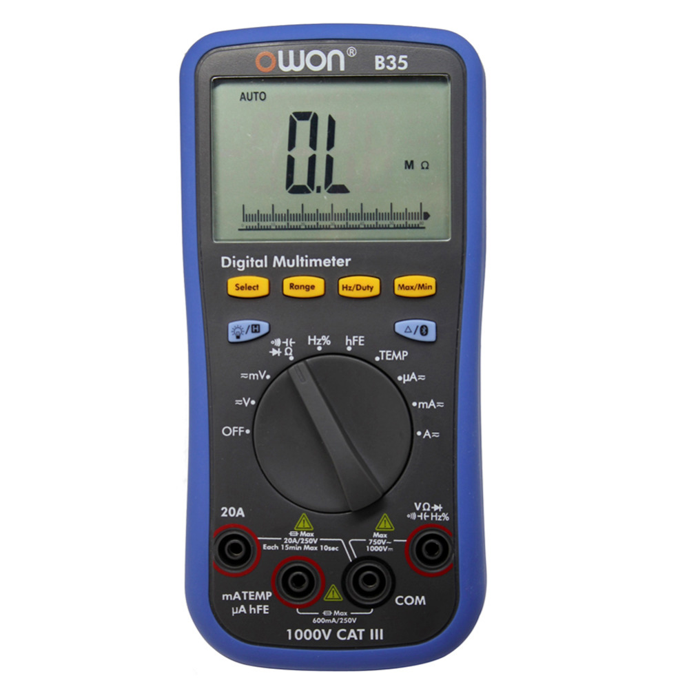 OWON large LCD B35 Multimeter Bluetooth mobile app download datalogger + DMM осциллограф owon hds1021m