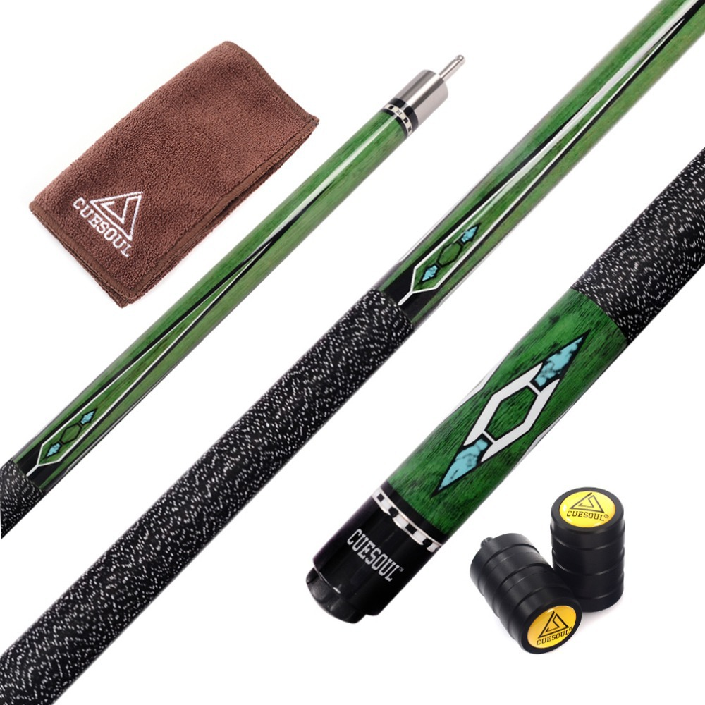 CUESOUL 57 inch Canadian Maple Wood 1 2 Jointed Pool Cue Stick Billiard Cue Cue With