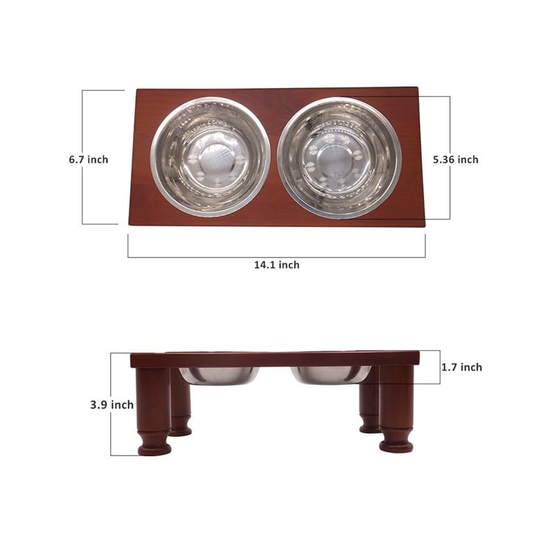 mesa de madeira cerâmica e aço inoxidável