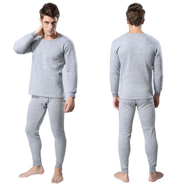 d40b73801ce7 Men 2Pcs Cotton Thermal Underwear Sets Winter Warm Long Johns Tops Bottom  Wear 3 Colors Hot