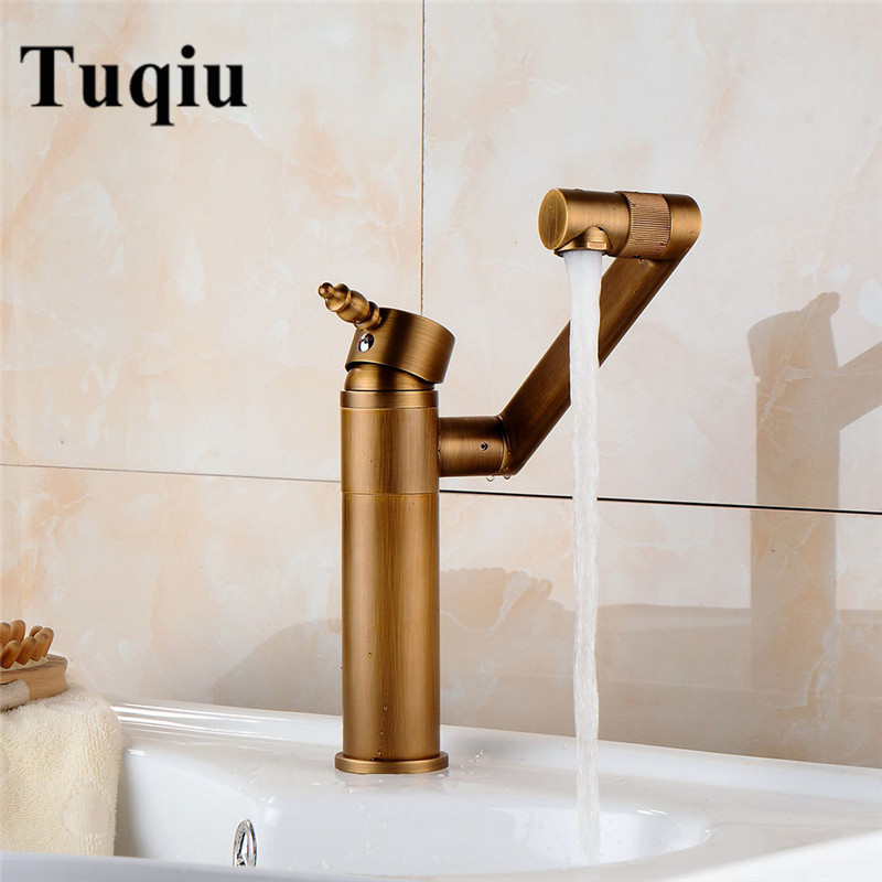 Basin Faucet Water Tap Bath 360 Degree Swivel Antique Bathroom Faucet Single Handle Sink Tap Mixer Hot and Cold Sink Water Crane basin faucet water tap bath 360 degree swivel antique bathroom faucet single handle sink tap mixer hot and cold sink water crane