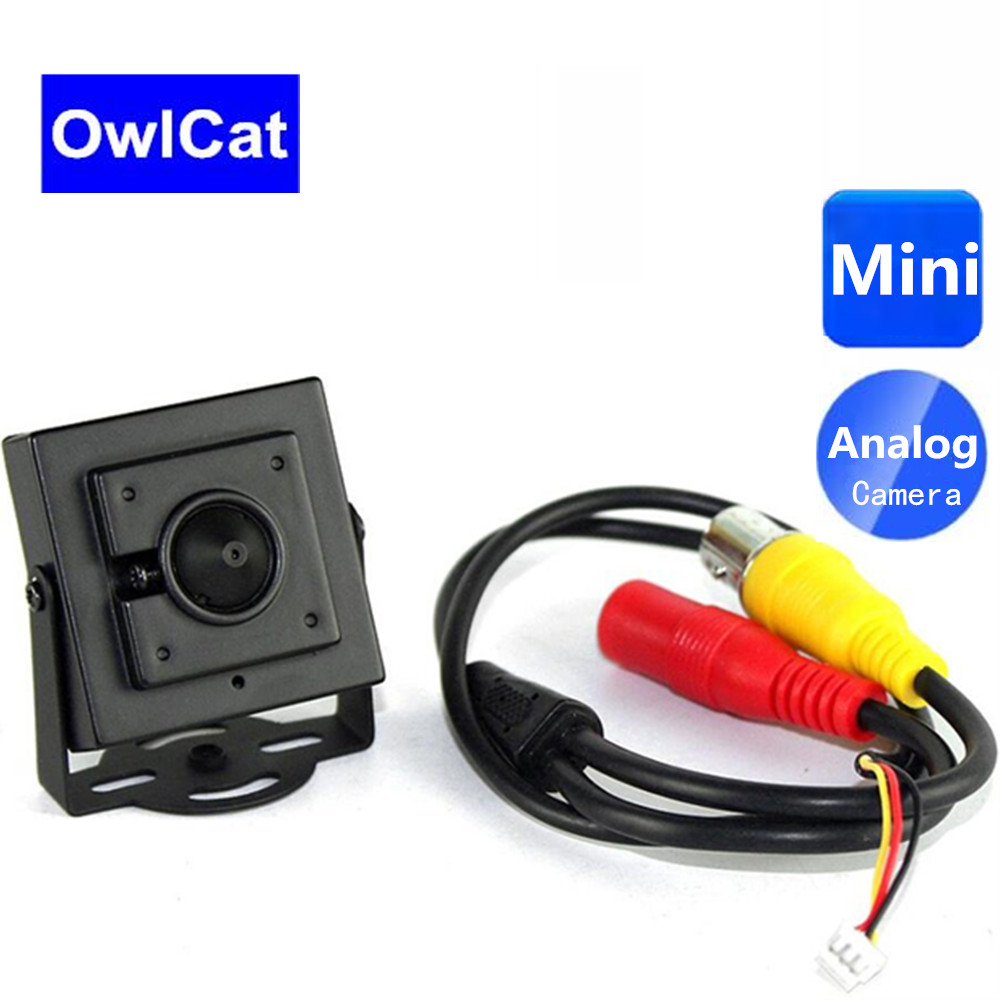 OwlCat 700TVL CMOS Sensor Mini Analog Camera 3.7mm Lens Metal Housing Security Surveillance CCTV Video Camera PAL NTSCOwlCat 700TVL CMOS Sensor Mini Analog Camera 3.7mm Lens Metal Housing Security Surveillance CCTV Video Camera PAL NTSC