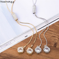 Exquisite Zirconia Crystal flowers Pendant necklace For women Elegant long sweater chain vintage Maxi statement jewelry