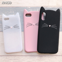 For iPhone 7 Case 3D Cute Cartoon Animal Beard Cat Ear Capinha Cases For iPhone 5S