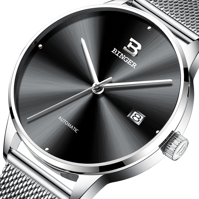 Switzerland BINGER Mens Watches Brand Luxury automatic mechanical Men Watch Sapphire Wrist Watch Male Sports reloj hombre 5080 switzerland men watch automatic mechanical binger luxury brand wrist reloj hombre men watches stainless steel sapphire b 5067m