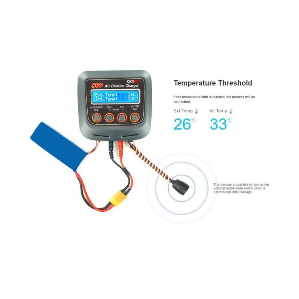 SKYRC S60 60 W 100-240 V AC баланс Зарядное устройство/Dis Зарядное устройство для 2-4 S литий Липо LiHV жизни литий-ионным никель-металл-гидридных и никель-кадмиевых PB дрона с дистанционным управлением автомобиля Батарея