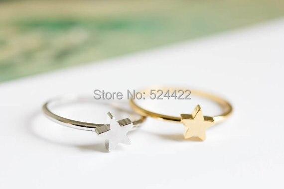 Minimo 1 pz stella midi knuckle anelli di forma di stella anelli di barretta oro