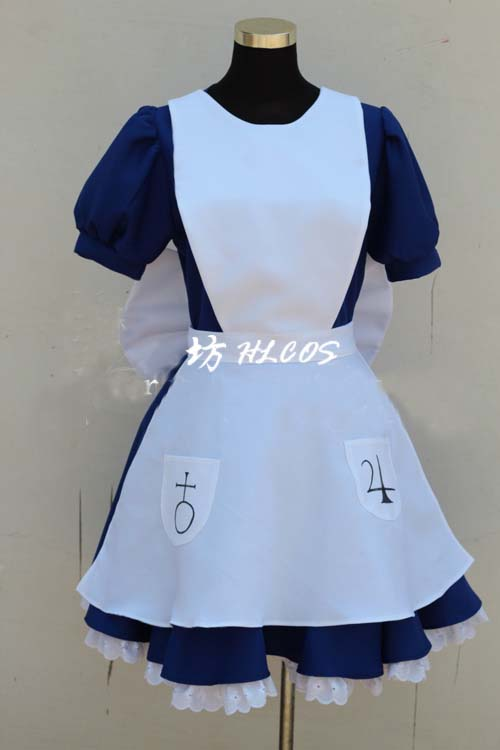 New Free Shipping Alice Madness Returns Alice Cosplay Costume Custom Dress