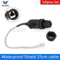 RJ45 waterproof connector M16 Ethernet Interface M20 LAN Network Adapter M22 CAT5E CAT6 M25 shielded panel mount Ap Box 10units