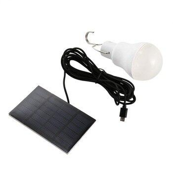 מנורה סולארית לד בטעינת השמש