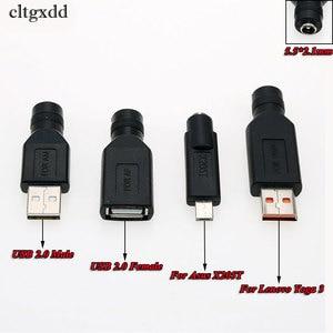 Image 3 - Cltgxdd 1pcs 5.5*2.1mm Vrouwelijke Jack naar USB 2.0 2.0*0.6 4.0*1.7 5.5 * 3.0mm Mannelijke Plug DC Power Connector Adapter Voor Asus X205T