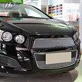 Para chevrolet aveo de sonic corrida grills corrida grille car styling chrome chapeamento da liga de alumínio produtos de decoração acessório