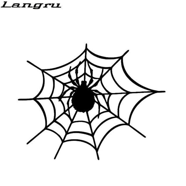 langru new design in spider web stylish car stickers vinyl graphics