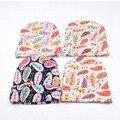 Sombrero Infantil de la Gorrita Tejida de Algodón Orgánico recién nacido Niño Niña Llevar A Casa Hospital Sombrero Floral Leopard Sombrero Bebé Recién Nacido Foto Atrezzo SW132