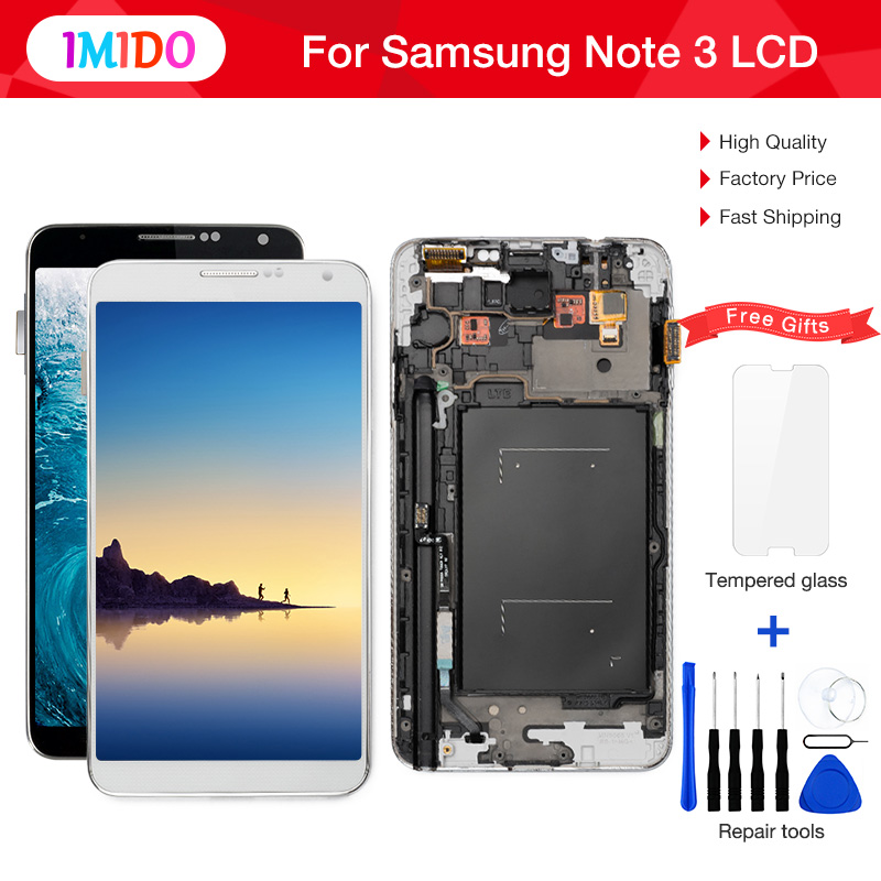 3Pcs/Lot <font><b>LCD</b></font> Display For Samsung Galaxy Note3 N9005 N900A N900T <font><b>N9000</b></font> <font><b>LCD</b></font> Display Touch Screen Digitizer Assembly+Frame image