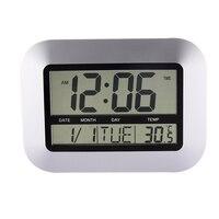 Vintage Digital Wall Clock Modern Design With Indoor And Outdoor Temperature Reloj Pared FEN