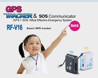 Studente piccola smart Bambini GSM GPS Inseguitore Bambino di Anziani Personale localizzatore GPS RF-V16 SOS Doppio Colloquio 7 giorni in standby libero APP