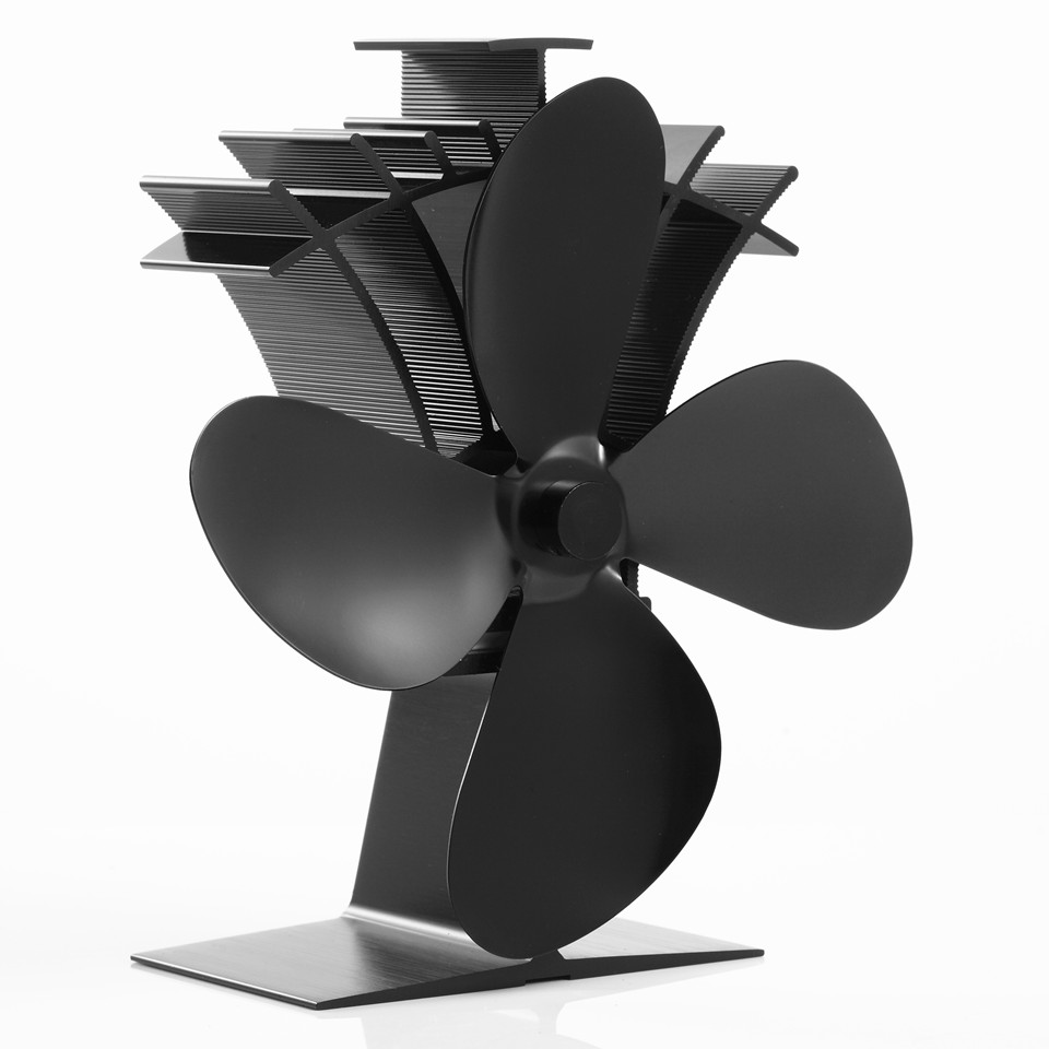 Heat powered fans for wood stoves - New Arrival 4 Blade Aluminum Wood Burning Stove Fan 17 Cost Saving Heat Powered