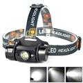 3 W Mini IR Sensor de Indução Farol Recarregável Usb Farol Lanterna 350 Lumen1Mode Cabeça Lanterna Tocha por 1x18650 bateria