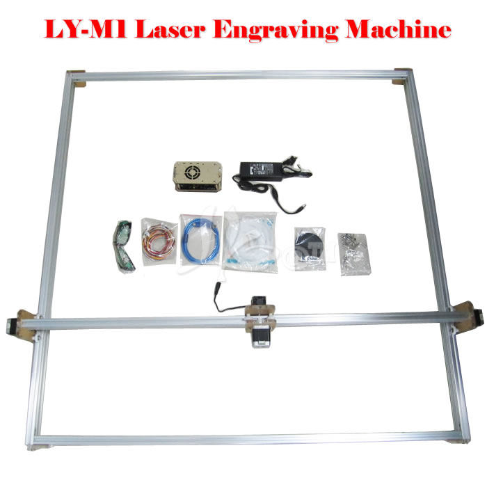 Cheapest DIY Violet LY M1 Laser cnc router machine 500mw 100 100cm ly m1 cnc printer 5500mw laser cnc machine