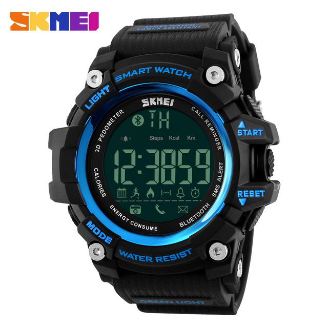 Homens smart watch moda relógio cronógrafo digital de calorias pedômetro smartwatch bluetooth ios 4.0 android relógios desportivos ao ar livre