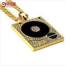 New Necklace Chain Hiphop chains diamond for men Bar DJ Box Diamante Pendant Hipster Street Dance Breaking Jewelry for Men Women