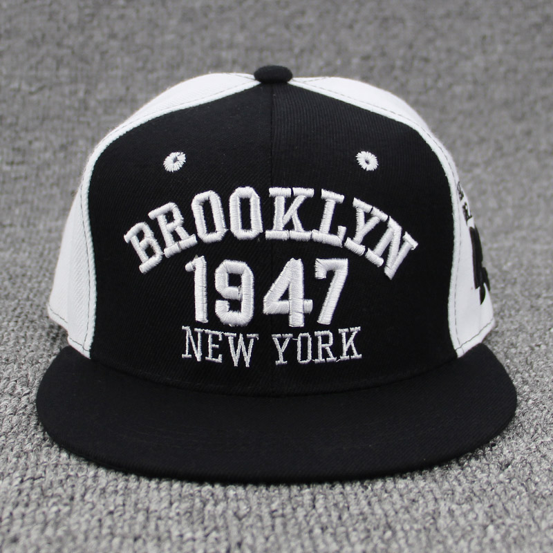 8e71b69314b New Fashion Men Womens 1947 BROOKLYN Letters Hip Hop Caps Leather Sun Hat  Snapback Hats Embroidery NEW YORK Baseball Cap NY Cap-in Baseball Caps from  ...