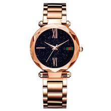 Luxury Women Watches Fashion Stainless Steel Mesh Belt Purple Ladies Wristwatch 2019 New Starry Sky Roman Numeral Gift Clock mesh steel strap roman numeral watch