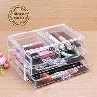 mother's gift Transparent crystal Acrylic makeup organizer storage box chef basket jewelry drawer storage drawer