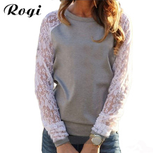 Long Sleeve Lace Blouses And Shirts