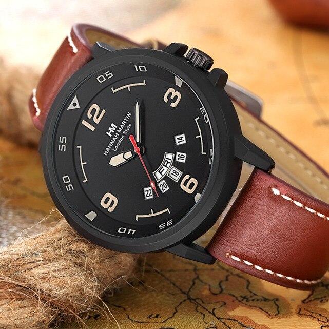 Hannah Martin Watch Men Watch Fashion Nylon Strap Sport Watches Auto Date Waterproof Military Watches Men Clock Bayan Kol Saati