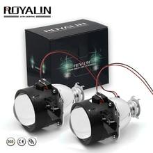 ROYALIN Bi Xenon HID Projector Lens LHD RHD 2.5 inch Headlight Lens with Hi/Lo Beam for H4 H7 H11 Car Light Retrofit Use H1 Bulb