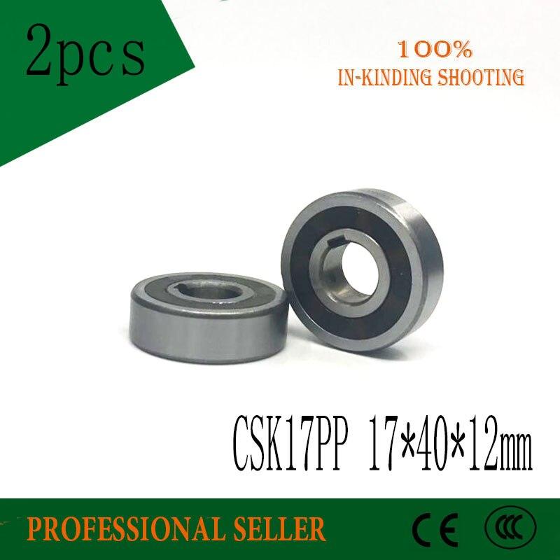 цена на 2pcs 6203 CSK17 CSK17PP BB17 one way clutch bearing 17x40x12 printer/Washing machine/printing machinery two groove