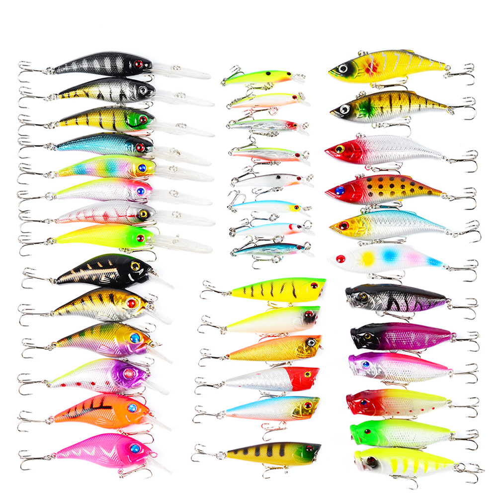 40pcs Set ABS Plastic Classic Fish Fishing Lure Hard Bait Fishing Artificial Bait Lures Minnow Crank Bait for Ice Winter Fishing 4pcs 19 8g spinner bait fishing bait spoon lure for winter hard fishing baits metal fishing lures artificial lures fish tackle