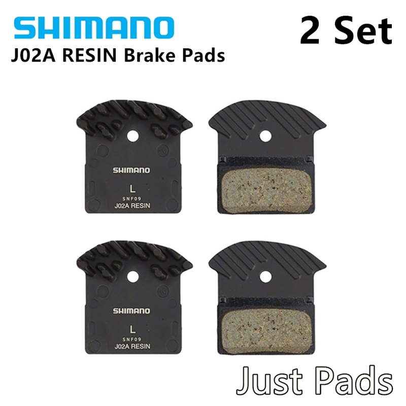 Shimano J02A Disc Brake Pads XT XTR SLX Deore Resin Cooling Fin Ice Tech 2pcs