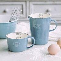 Эмалированный мерный стаканчик с чехлом молочный кофе чашка для воды
