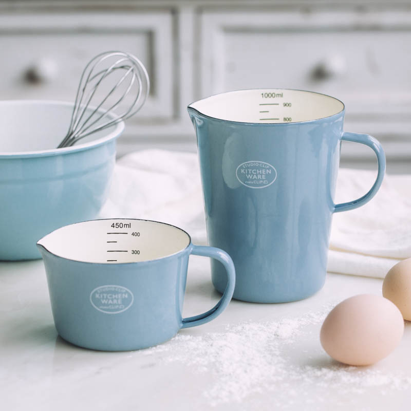 Enamel Measuring Cup With Scale Milk Can Coffee Cup Water Cup