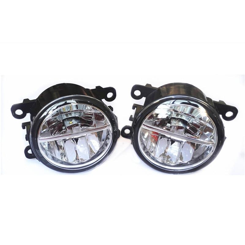 ФОТО For HONDA EVERUS 2013-2014 10W Fog Light LED DRL Daytime Running Lights Car Styling Lamps