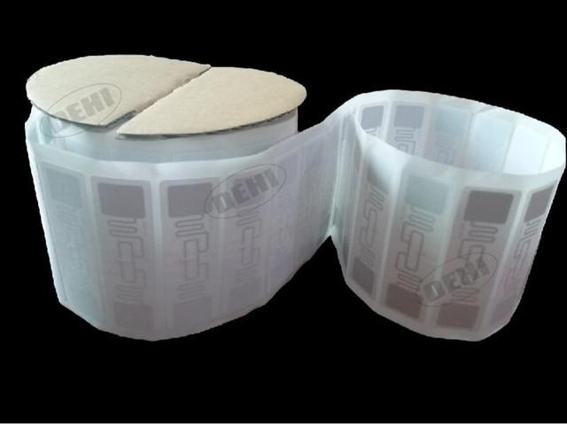 100pcs UHF Stickers label AZ 9662 860 960MHz UHF RFID Adhesive Tag ISO 18000 6C Alien H3 Chip Inlay 73*23mm